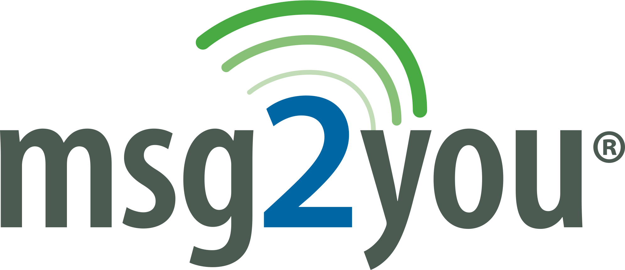 Logo for the msg2you mobile messaging product